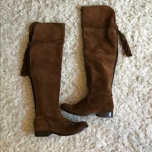 Frye Molly Tassel Over The knee Boots Size 6